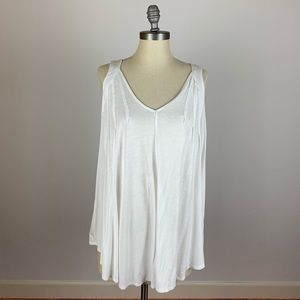 Anthropologie Meadow Rue White Tunic Tank Top